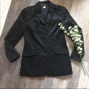 J. Crew | Black Wool 4 Button Blazer